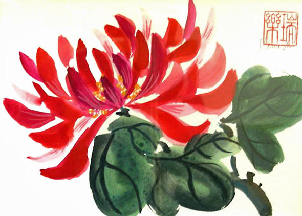китайские цветы фото: