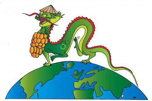 کاریکاتور چینی اقتصاد چین اخبار اقتصادی