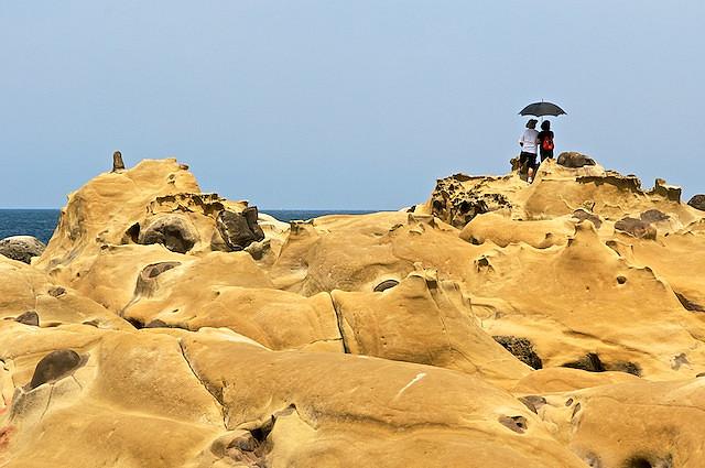 килун, парк, красивый вид, тайвань, скалы, море