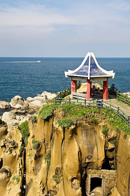 килун, тайвань, парк, беседка, красивый вид