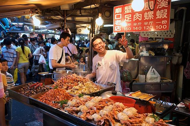 Miaokou, тайвань, килун, keelung, taiwan, ночной рынок