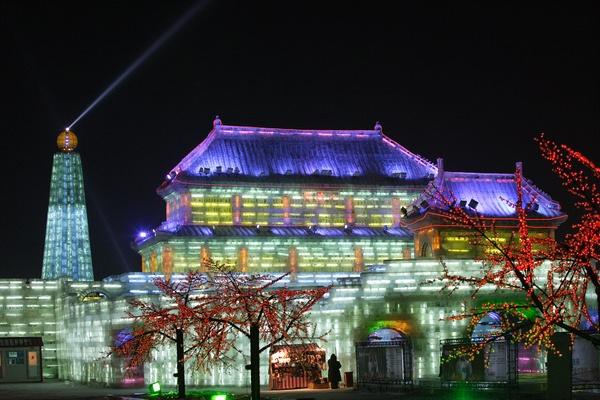 Харбин, ледяные скульптуры, выставка, Китай