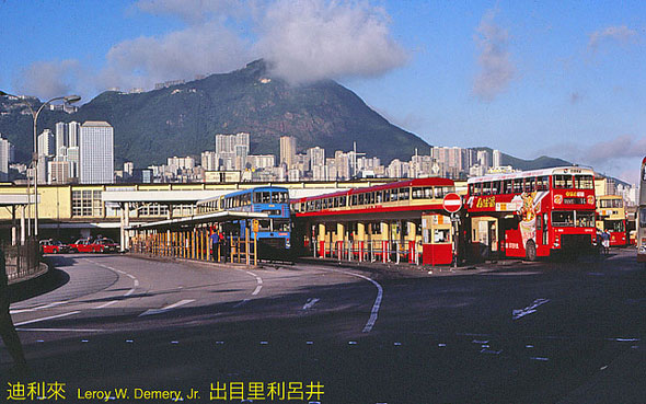 Tsim Sha Tsui bus terminal, гонконг, китай, 1983, hongkong, china