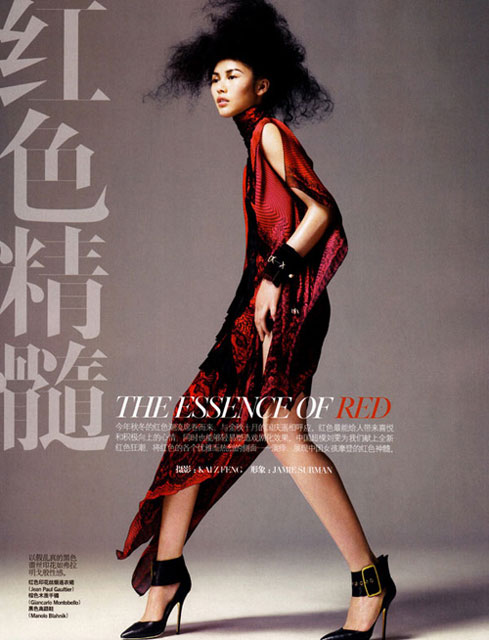 liu wen, red, китайские модели