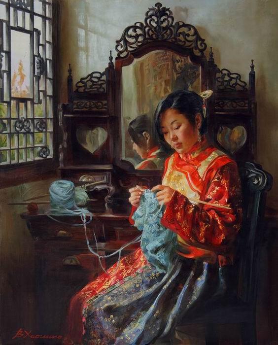 харченко, китай, вязание