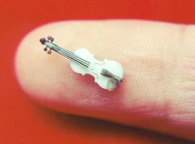 скрипка, ли цыци, микроминиатюра