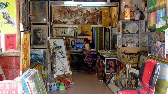 дафэнь, китайские художники