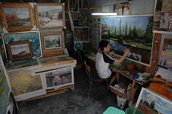 dafen china village paintings