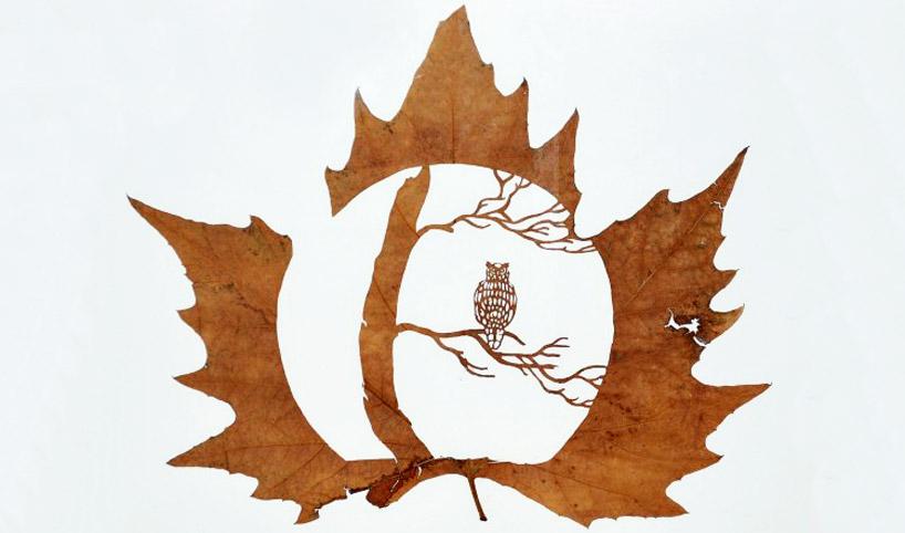 chinese leaf art
