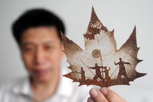 chinese leaf art