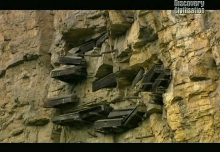 Китай, тайна висячих гробов