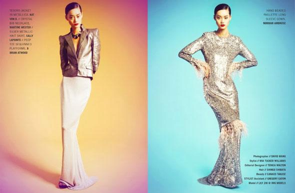 Lily Zhi, Kenton Magazine, китайские модели, Лили Чжи, китайские глянцевые журналы, новогодние фотосессии, китайские фотосессии