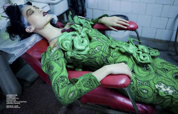 Lina Zhang, Harper's Bazaar China, китайские модели, китайские глянцевые журналы, новогодние фотосессии, китайские фотосессии