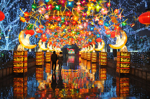 xian lantern festival, сиань, праздник фонарей