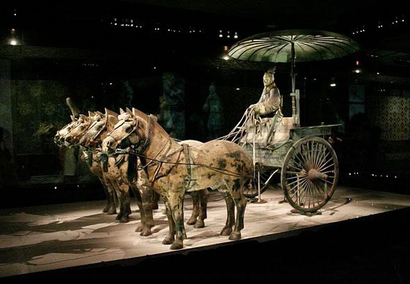 зонтик, китайский зонтик, колесница
