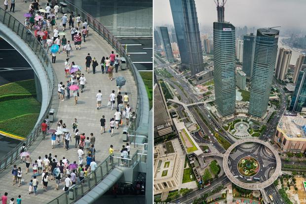 пешеходный мост шанхай