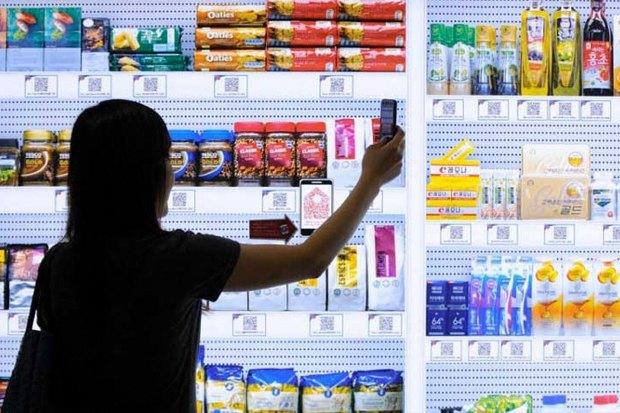 вирутальный супермаркет китай, virtual supermarket china, Yihaodian