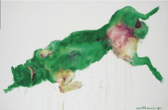 Zhou Chunya, zhou chunya Painting Sculpture, china modern art, china contemporary art, green dog
