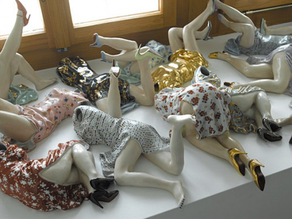 Liu Jianhua, liu jianhua porcelain , liu jianhua sculpture installation, china modern art, china contemporary art