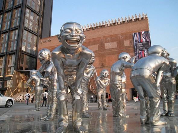 yue minjun, china contemporary art, china modern art, china modern artists,  yue minjun Painting sculpture Installation