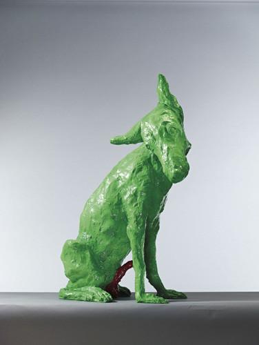 Zhou Chunya, zhou chunya Painting Sculpture, china modern art, china contemporary art, green dog