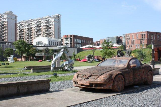 red town, red town shanghai, art china, шанхай, шанхай парк