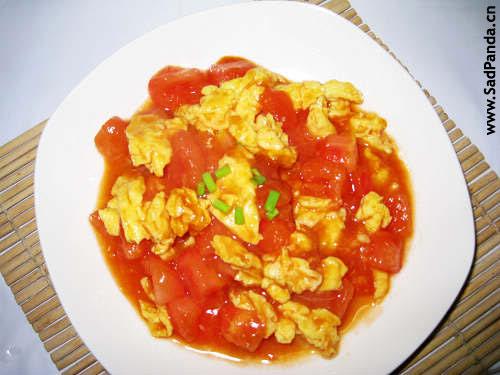 Помидоры с яйцом, 西红柿炒鸡蛋